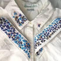 Commissioned geometric shirt