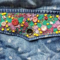Floral shirt pocket
